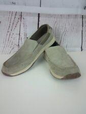 Croft & Barrow Memory Foam Men's Gray Suede Slip On Dress Shoes Size 12M