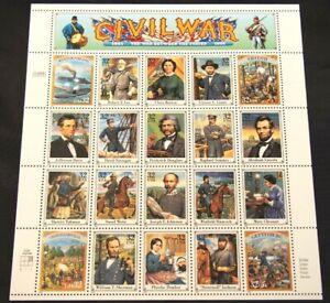 1995 Scott 2975 Civil War Between the States Commemorative 20 stamp sheet 32¢