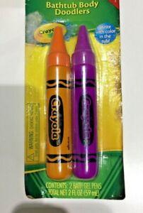 Crayola Bathtub crayons ?? Body Doodlers 2-pack ?? orange & purple