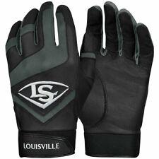 Mens Louisville Slugger Baseball Softball Batting Gloves Black Grey WTL6104BL