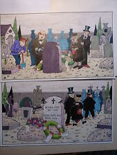 Ivica ASTALOS  MAD-Originalzeichnung neulich am Friedhof berühmte letzte Worte