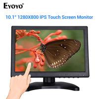 "EYOYO 10.1"" Inch Touch Screen IPS Monitor Display 1280x800 Support VGA USB HDMI"