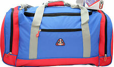 90L /76cm FIB Heavy Duty Large Sports gear Travel Duffel Camping Bag BLUE/RED