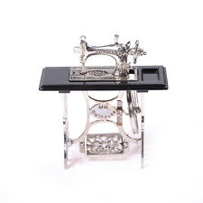 MiniaturaToyVintage Miniature Sewing Machine Furniture Toy For 1/12 Doll House D
