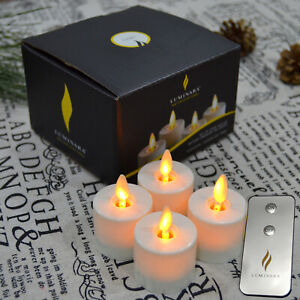 Luminara Flameless Tea Lights,Flickering Battery Operated LED Candles with Timer