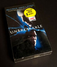 Unbreakable (Vhs, 2001) Bruce Willis Samuel L Jackson New Sealed