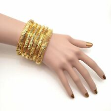 Indian Bangles Size:2.6 22k Gold Plated Asian Bridal Jewellery Party Ethnic Wear