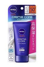 ☀ Nivea Sun Creme Care UV Cream Sunscreen SPF50+ PA++++ 50g Pump Made in Japan ☀