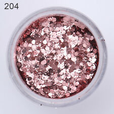 10ml Nail Art Glitter Powder Pink Purple Hexagon Shape Powder Sheets Tips