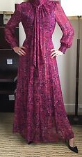 Laura Ashley 10 🌹 NEW Jacquard Maxi Dress Vintage Boho Hippy Evening Gown 🌺