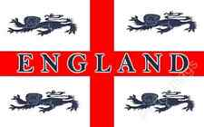 ENGLAND 4 LIONS FLAG - ENGLISH SPORTS FLAGS - Size 5x3 Feet