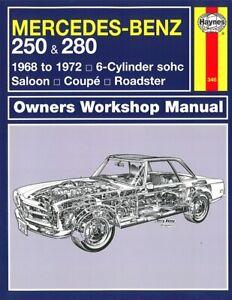 Haynes Handbuch: Mercedes-Benz SL W113 Pagode  Reparaturanleitung/Reparatur-Buch