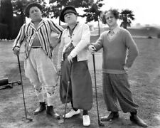 Golfing THREE 3 STOOGES Glossy 8x10 Photo Moe, Curly, Larry Print Poster