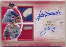 Julio Urias Fernando Valenzuela Dodgers 1/1 RED Auto Game Used Jersey Definitive