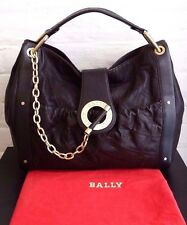 AUTHENTIC BALLY LEATHER 'MEG T' BAG IN DARK CHOCOLATE, AS NEW RRP $2110 AUD