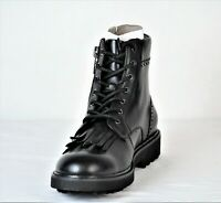 INC International Concepts Men's Brix Kiltie Leather Boots Black 8M New