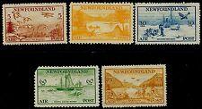NEWFOUNDLAND 1933 Put to Flight AIR Set of 5 MH SG #230-34 CV £150+[2246]