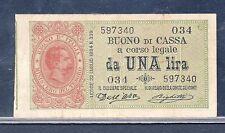 *R2* 1  lira UMBERTO I° 1894  BB+  *R2* (Periziata)