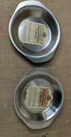 """Revere Ware Limited Edition Collection 2 Copper SS 6.5"""" Oval Round Pan free ship"""