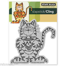 New Penny Black SCARY SWEET Slapstick Cling Rubber Stamp Halloween Tiger Spooky