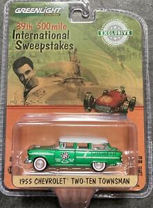 CHASE CAR 1955 Chevy 2-10 Townsman GREENLIGHT 1/64 Scale Diecast Indy 500