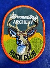VINTAGE BROWNING ARCHERY BUCK CLUB HUNTING PATCH