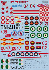 "Print Scale 72-008 - 1/72 Decal for Mig-17 ""fresco"" 1/72, Aircraft"
