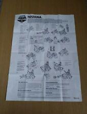 Kenner M.A.S.K Iguana Instructions / Poster