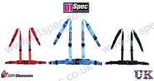 D1 SPEC 4 POINT RACING HARNESS SEAT BELT BLUE JDM DRIFT by nitroXukimport
