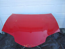 98-02 PONTIAC FIREBIRD FRONT HOOD WITH OUT RAM AIR BRIGHT RED CAR OEM PANEL GM