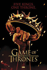 Game of Thrones Crown Poster! Five Kings One Throne Song of Ice and Fire New