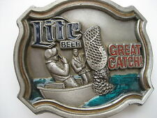 Fisherman Lite Beer Belt Buckle (Bk57)
