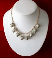 Late Victorian Pearl & Brass Choker/Necklace
