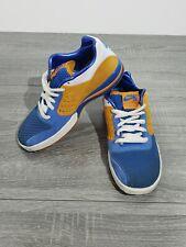Nike SB Tre Ad Zoom Skateboard Shoes Size 7 Men's Shock Orange New Blue Lace Up