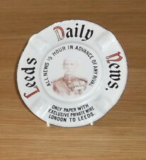 More details for victorian..leeds daily news..pictorial enamel ashtray..rare.