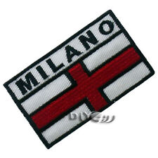 Milan Flag Patch Embroidered Flag Sew or Iron on Patch National Flag Patches
