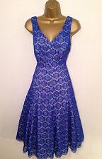Coast Cobalt Blue Dress Size 16