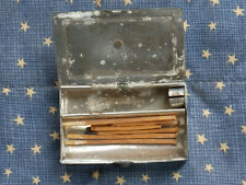 New ListingCivil War era Traveling pocket candle holder match safe. Go to Bed vesta.