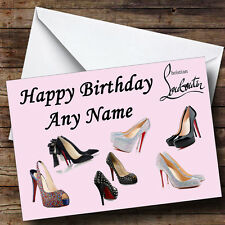 Christian Louboutin Personalised Birthday Greetings Card