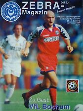 Programm 1996/97 MSV Duisburg - VfL Bochum