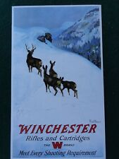 Winchester Firearms Advertising Poster by Philip R Goodwin, Mule Deer Hunt