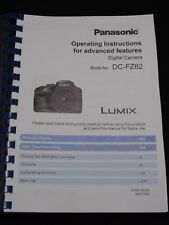 PANASONIC LUMIX FZ82 CAMERA PRINTED USER MANUAL GUIDE HANDBOOK 311 PAGES A5