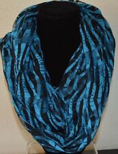 Infinity Scarf Women's New turquoise & black handmade accessory