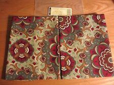 "Longaberger Autumn Roads 18"" Fabric Square or 2 Napkins"