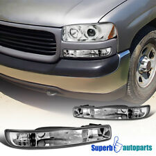 For 1999-2006 GMC Sierra Yukon Bumper Lights Signal Lamps Replacement