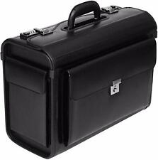 New Executive Flight Pilot Case Business Laptop Travel Work Cabin Bag Briefcase