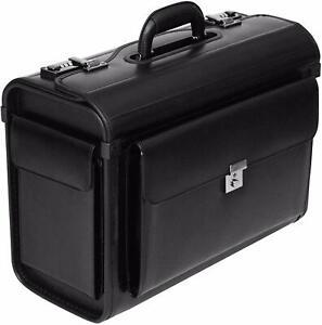 New Executive Flight Pilot Case Business Laptop Travel Work Cabin Bag Briefcase