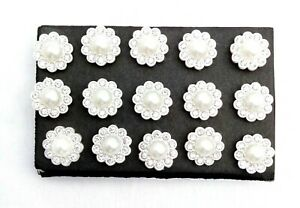 PEARL BLING Thumb Tacks - Set of 15 Handmade Decorative Push Pins