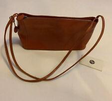 Monsac Cognac Leather Baguette Styl