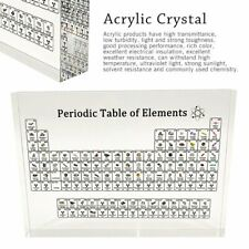 Chemistry Periodic Table Display with Elements Acrylic Student Teacher Gift Nice
